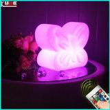 Multi Colof moderna de plástico de cambio de dormitorio iluminación LED Lámparas de boda