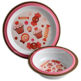 2PCS Melamine Kids Dinner Set