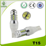 Atacado 12V Branco T15 80W Auto LED Light