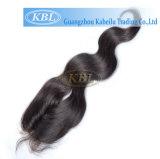 Parte do cabelo da maneira de Kabielu 3part, fechamento brasileiro do laço do cabelo do fechamento baixo de seda livre da parte