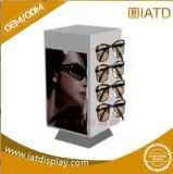 Sauter vers le haut l'étalage en bois de détail de Pegboard de boucle de lunetterie de bijou de bijou de mémoire avec le frein pour le bijou d'écran LCD/chargeur