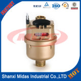 ISO4064 Dn15 ~ Dn20mm Rotary Piston Brass Volume de compteurs d'eau