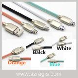 4 색깔 아연 합금 마이크로 USB 2.0 충전기 데이터 케이블