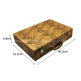 15 Slots Snake Skin Texture PU Leather Watch Box