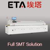 Eta (E8) 썰물 오븐, 8개의 지역을%s 가진 자동적인 PCB 납땜 기계