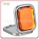 Cadeau personnalisé Printed & Epoxy Logo Round Metal Cosmetic Mirror