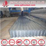 Folha de aço ondulada da telhadura do soldado do zinco do metal de ASTM A653m