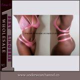 La mujer sexy lingerie dormir sostén y Panty conjunto ropa interior (TFQQ1003)
