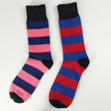 Rosafarbene Streifen-Socken für Frauen-Kleid-Socke mit buntem