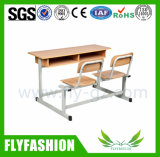 Sf-06D 두 배 학생 책상 및 의자는 학교 가구 교실 테이블을 이용했다