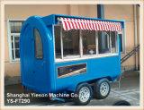 제동 장치를 가진 Ys-FT290 파랑 2.9m 자동차 부엌 차 아이스크림 트레일러
