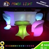 회전 주조 플라스틱 LED 가구 바 자두 꽃송이 테이블
