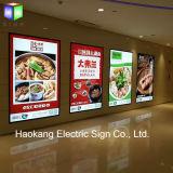 Cadre magnétique en aluminium mince d'éclairage LED de bâti avec le signe éclairé à contre-jour de publicité par affichage de film de la taille A0