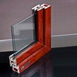 Kundenspezifisches 6mm doppeltes glasig-glänzendes weißes Belüftung-Profil-Fenster/doppeltes Panel-Plastikfenster