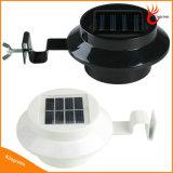 3개의 LEDs 옥외 점화 자동적인 센서 통로 벽 지붕 안뜰 잔디밭 처마 담 문간 정원 램프 LED 태양 빛을 방수 처리하십시오