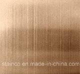 Het zwarte Haarscheurtje van het Blad van het Roestvrij staal van de Kleur eindigt