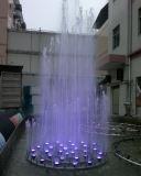 Il piccolo controllo LED di musica illumina la fontana di acqua dell'acciaio inossidabile