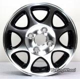 Bordes autos de la rueda de la aleación de las ventas calientes de 13 pulgadas con plata hiperactiva o plata