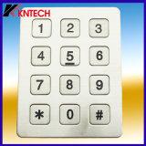 Edelstahl-Panel-Tastaturblock mit 12 Schlüsseln