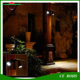 옥외 무선 400 루멘 RGB 8LED 태양 강화된 LED 스포트라이트, 이중 맨 위 방수 유연한 벽 마운트 정원 빛