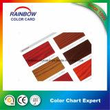 Tarjeta de madera del color de la laca de los muebles de la pintura