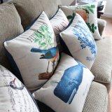 Het katoenen Linnen drukte Decoratief Hoofdkussen af dat voor Slaapkamer wordt geplaatst