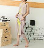 Покрасьте сопрягая платье повелительниц шифоновой безрукавный круглой шеи расположенный ярусами