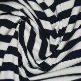 tela Yarn-Dyed de la raya del Spandex modal del algodón 220GSM