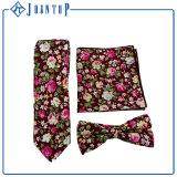 Conjuntos coloridos de encargo de la corbata del algodón de la flor de la buena calidad