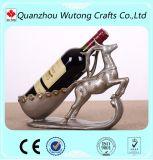 居間の装飾のおかしい動物のシカのワイン・ボトルのホールダー