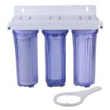 '' filtre d'eau 10 avec le boîtier clair de 3 étapes