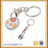 Trousseau de clés fait sur commande de pièce de monnaie d'indicateur de qualité avec le logo gravé