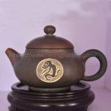 La cerámica de arcilla Nixing Qinzhou Zodíaco chino Tetera Artesanal de tallado de mono