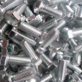 Boulon d'hexa de l'acier inoxydable ASME B 18.2.1 (demi d'amorçage)