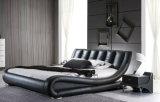 Кровать неподдельной кожи новой шикарной конструкции самомоднейшая (HC203B) для спальни