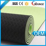 La qualité en gros a fermé le couvre-tapis fait sur commande de yoga de bande d'étiquette de mousse de cellules
