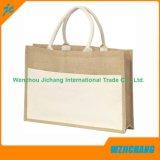 La bolsa de asas de lino de compras de lino de Eco de la impresión de encargo del precio de fábrica
