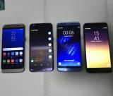 2017 teléfonos 5.5inch S8 S8+ S8 del androide 6.0 de la base 3G WCDMA del patio más insignia del frente no todo el color de Balck de la demostración de la pantalla elegante abren los teléfonos impermeables