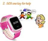 Q60 GPS Tolerado Sos inteligente reloj Posicionamiento de llamadas buscador de la localización del dispositivo perdido anti Monitor para Bebé Niño Reloj de pulsera de color rosa