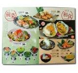 풀 컬러 주문 두꺼운 표지의 책 대중음식점 메뉴 인쇄