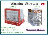 2-rij Countertop van het Roestvrij staal de In het groot Warmere Showcase van de Pizza met Ce