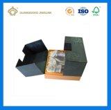 Rectángulo impreso lujo caliente del perfume del papel de la cartulina de la venta con la pieza inserta cortada con tintas (fábrica de Guangzhou)