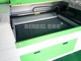 Plástico, acrílico, cuero, grabador de goma y cortador del laser del CO2 del CNC para la venta