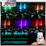 Music Control LED Whip, Flexible Safety Whip pour ATV UTV Cars, RGB LED Bluetooth Control Pole Light Whip Light,