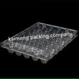 Plateaux clairs en plastique en gros d'oeufs de la Chine de transport gratuit pour le module d'oeuf de caille avec l'étiquette (plateau clair d'oeufs)