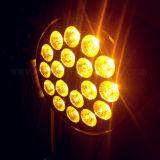 Het professionele 4in1 LEIDENE van het PARI 18X10W RGBW Licht van het Stadium