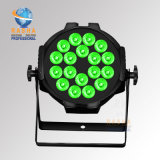 18*18W 6en1 Alumnium PAR LED de luz con mando a distancia inalámbrico