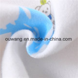 熱い販売のかわいい印刷された水は有機性綿のバンダナの胸当てを吸収する