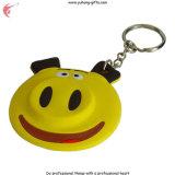 Suporte bonito da chave do PVC Keychain da forma do porco (YH-KC013)