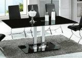 Tableau en verre d'acier inoxydable de noir moderne de meubles (A2712)